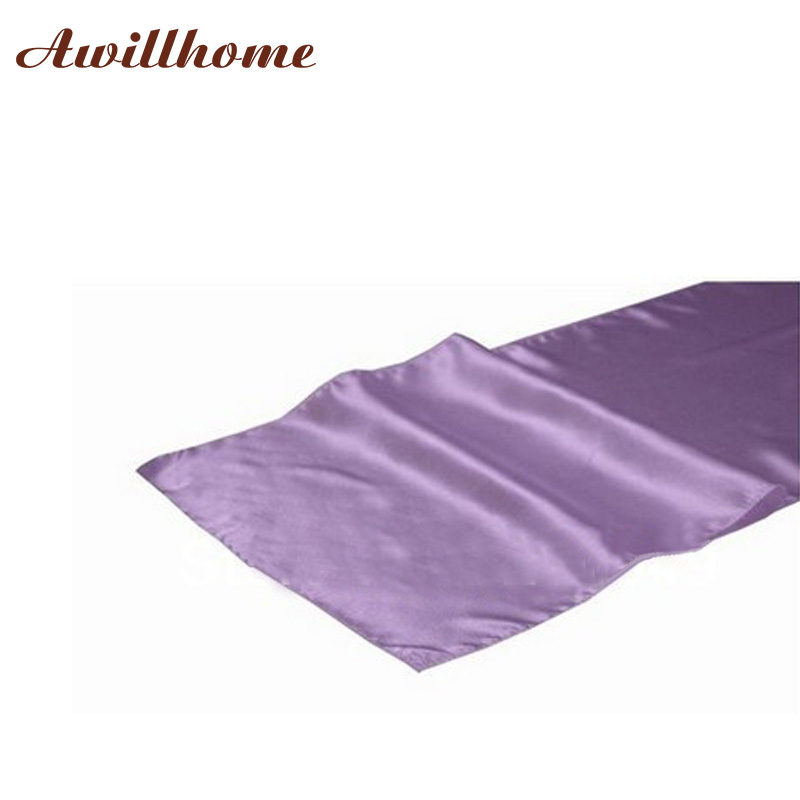 10 Pcs Free Shipping Lavender Table Runners Decorations(China)