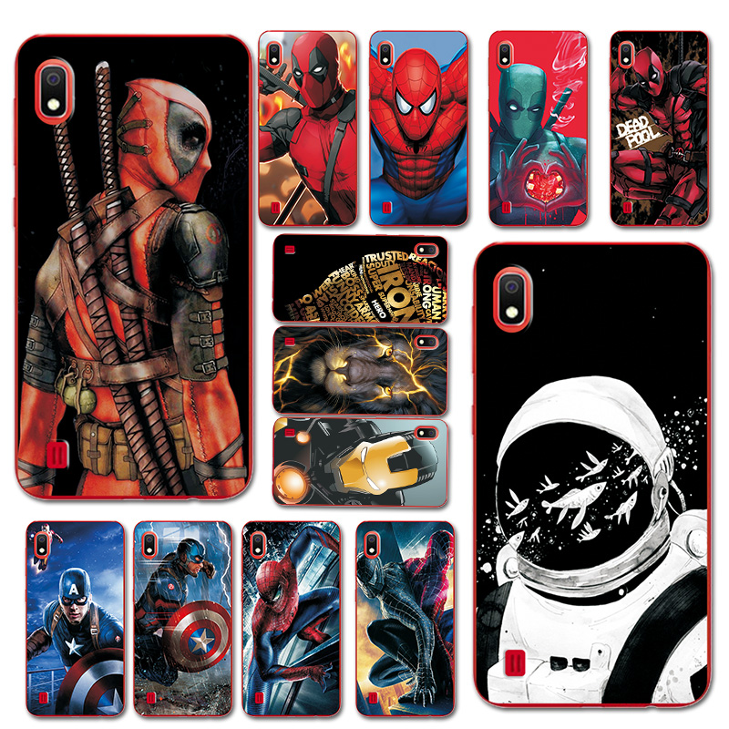 Phone Bags For <font><b>Samsung</b></font> Galaxy <font><b>A10</b></font> A30 Astronaut/Deadpool Brilliant Printed Bumper For <font><b>Samsung</b></font> A30 A50 TPU <font><b>Case</b></font> Cover A50 A70 image