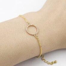 2019 personalized bracelet Eternal crystal bracelet gold round exquisite bracelet Stainless steel simple ladies jewelry Pulseira personalized retor paint bracelet