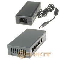 DSLRKIT 48V 96W 5 Ports 4 PoE Injector Power Over Ethernet Switch 4 5 7 8