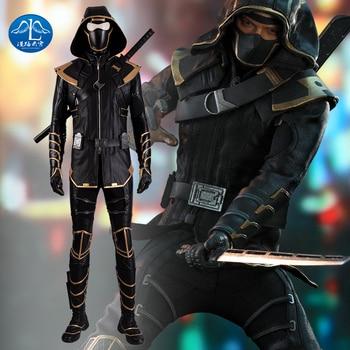 New Endgame Costume Cosplay Adult Hawkeye Clint Barton Hoodie Jacket Halloween Christmas Party Full Set Superhero