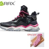 RAX Women's Hiking Shoes Boots Waterproof Leather Mountain Shoes Women Antislip Mid high Shoes Women Jogging Walking with gift