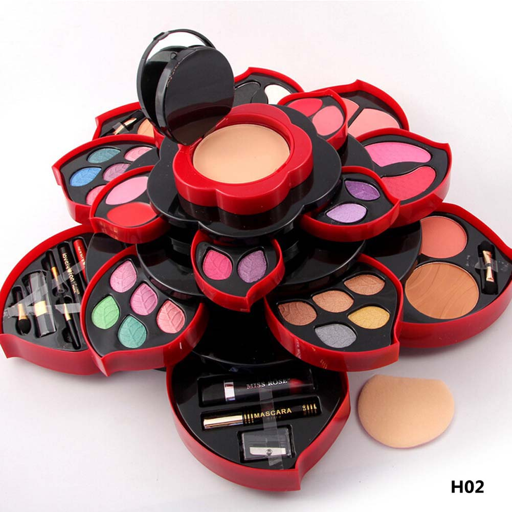 MISS ROSE Makeup Plate Plum Blossom Rotating Eye Shadow Box Cosmetic Case Makeup Palette Makeup Tools miss rose 2017 new fashion plum blossom multi function eye shadow plate natural sexy makeup series 40 15cm makeup box
