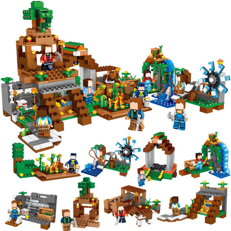 1007PCS My World Series Minecraft Figures City Blocks Bricks Model Building Blocks City Educational Enlighten Children Toys