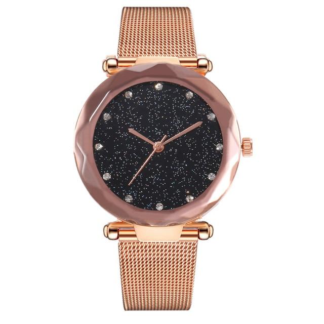 Elegant Ladies Watch Exquisite Female Stainless Steel Mesh Quartz Wrist Watch St