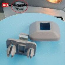 1 шт. бежевый серый солнцезащитный козырек зажим крюк Держатель для Audi A4 2005- A4 Allroad 2010- RS3 2011- для сиденья Exeo