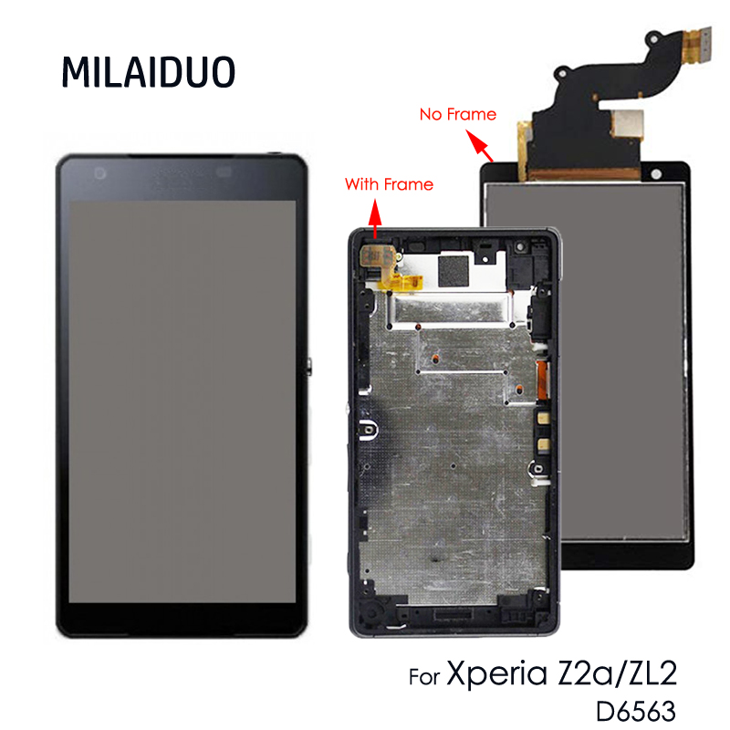 Original LCD Display For Sony Xperia Z2a D6563 ZL2 IPS Touch Screen Digitizer Assembly Replacement Parts With Frame+Tools
