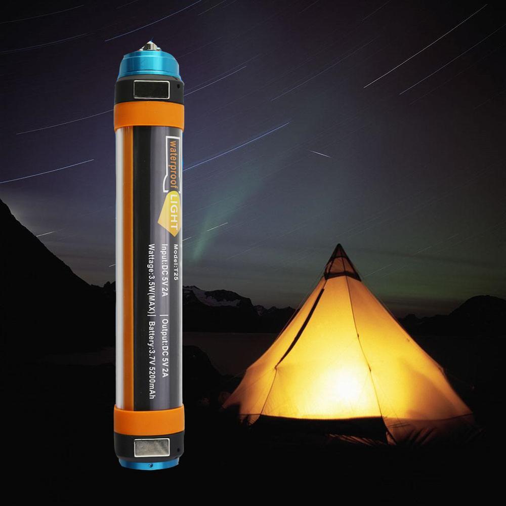 Lampe de Camping Portable IP68 LED étanche lampe de poche Rechargeable USB lampe de poche à main magnétique lanterne pour randonnée alpiniste T15 T25