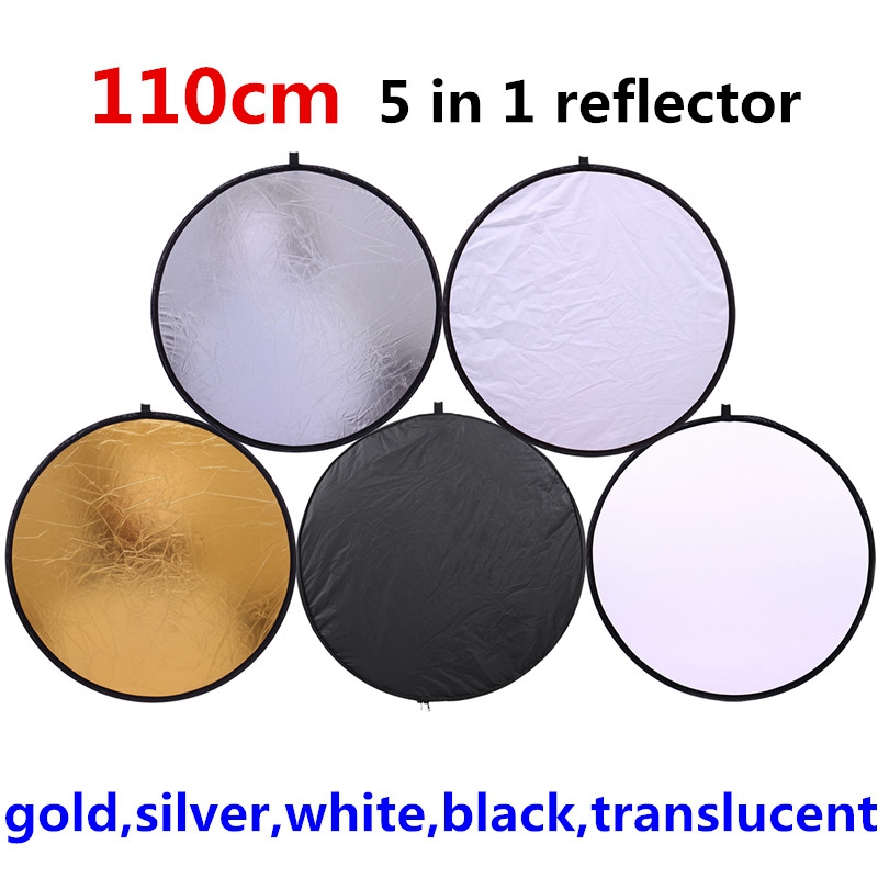 CY 43 110cm 5 in 1 reflector high quality Portable Collapsible Light Round Photography Reflector for Studio Multi Photo Disc