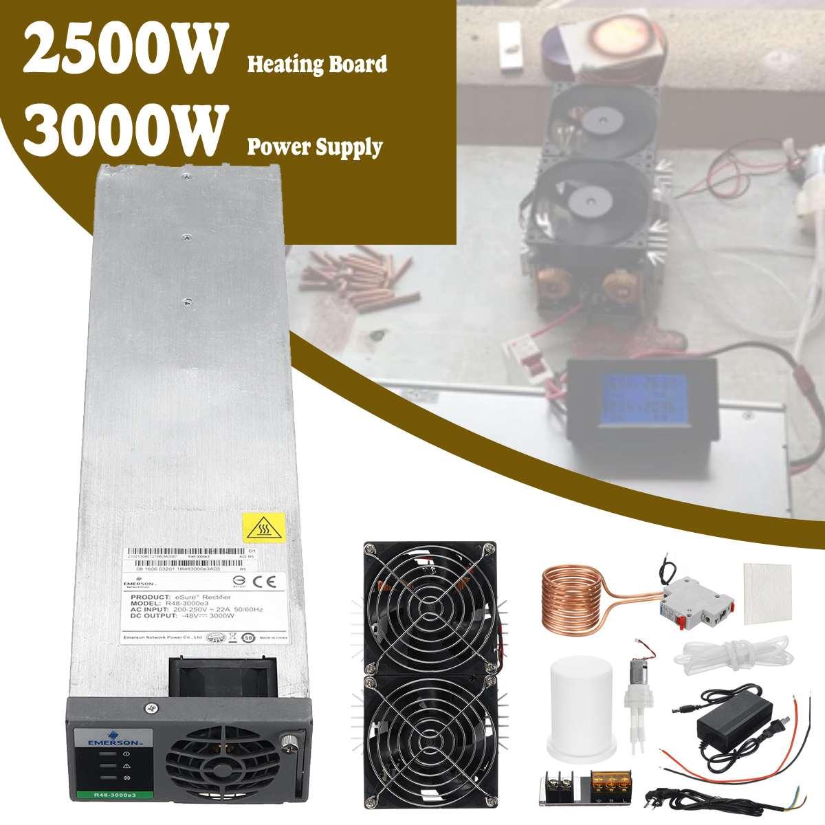 3000 w zvs indução aquecedor máquina de aquecimento placa pcb módulo flyback driver ventilador legal + 48 v 3000 w fonte alimentação + bobina bomba