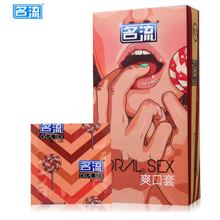 MingLiu 20Pcs/pack Pleasure More Fruit Cherry Taste Oral Sex Condoms for Men Blow Job Preservativo Contraception image
