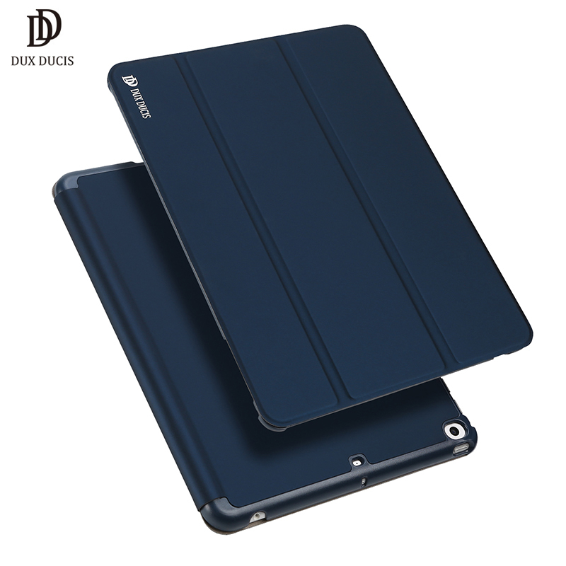 DUX DUCIS Luxury PU Leather Case for iPad 9.7 2018 Folio Smart Hard PC Pencil Holder Flip Cover for iPad 2018 2017 9.7 inch New