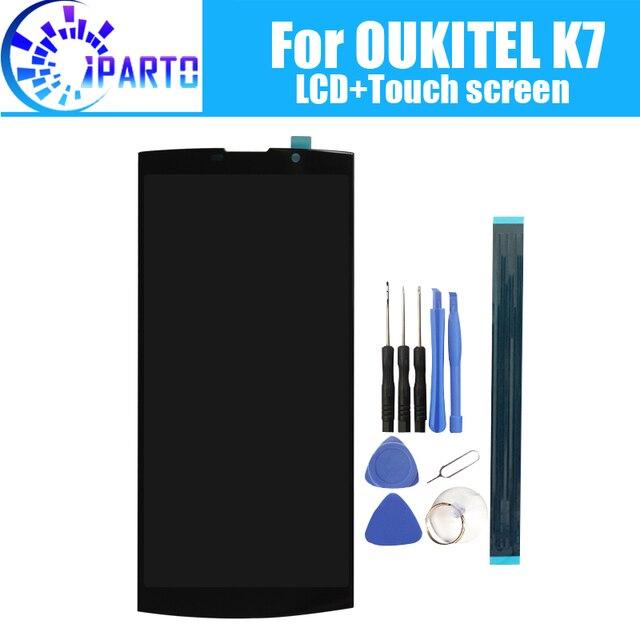 6.0 אינץ OUKITEL K7 LCD תצוגה + מסך מגע 100% מקורי נבדק LCD Digitizer זכוכית לוח החלפה עבור OUKITEL K7