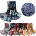Flower Womens Voile Stole Scarves Long Neck Wraps Shawl Scarf