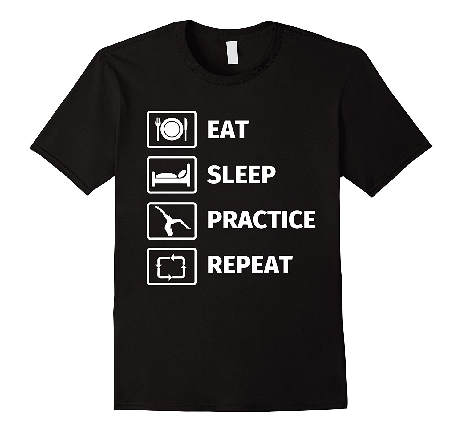 Gifts for Gymnasts EAT SLEEP GYMNASTICS REPEAT T Shirt T-Shirt Fashiont Free Shipping Top Tee 2017 Newest MenS Funny