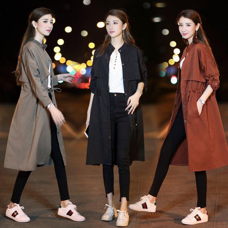 2 3 Section Manteau Coupe Femelle Coréenne vent 1 Étudiants Sauvage Veste Féminine Printemps Longue PqxqBF7w4