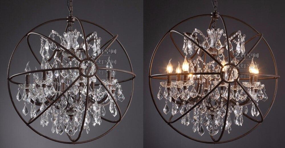 Vintage Orbital K9 Crystal Chandelier Lamp DIY American Home Deco ...