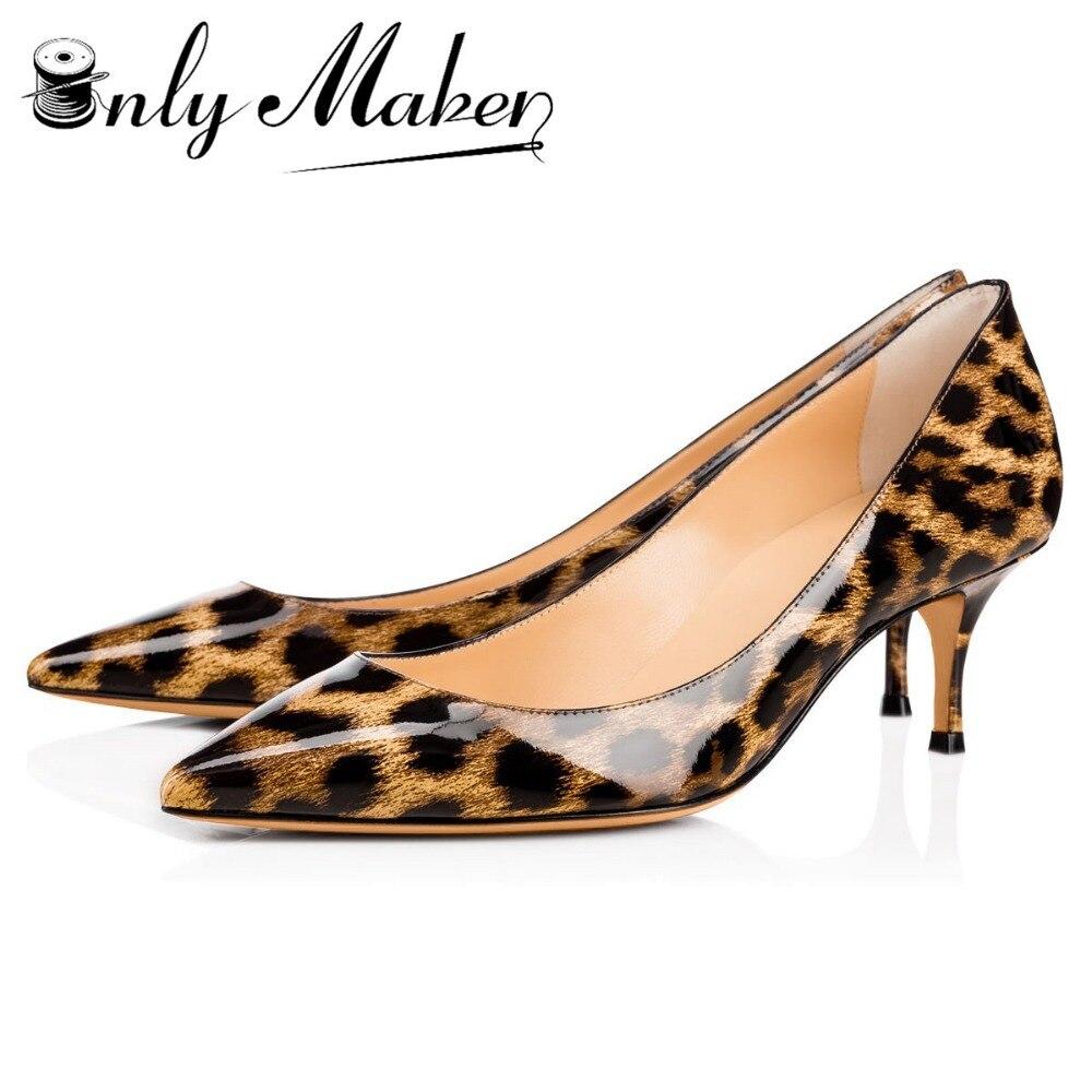 Onlymaker Women's Low Heels 2.6 Inches 6.5cm Thin Heel