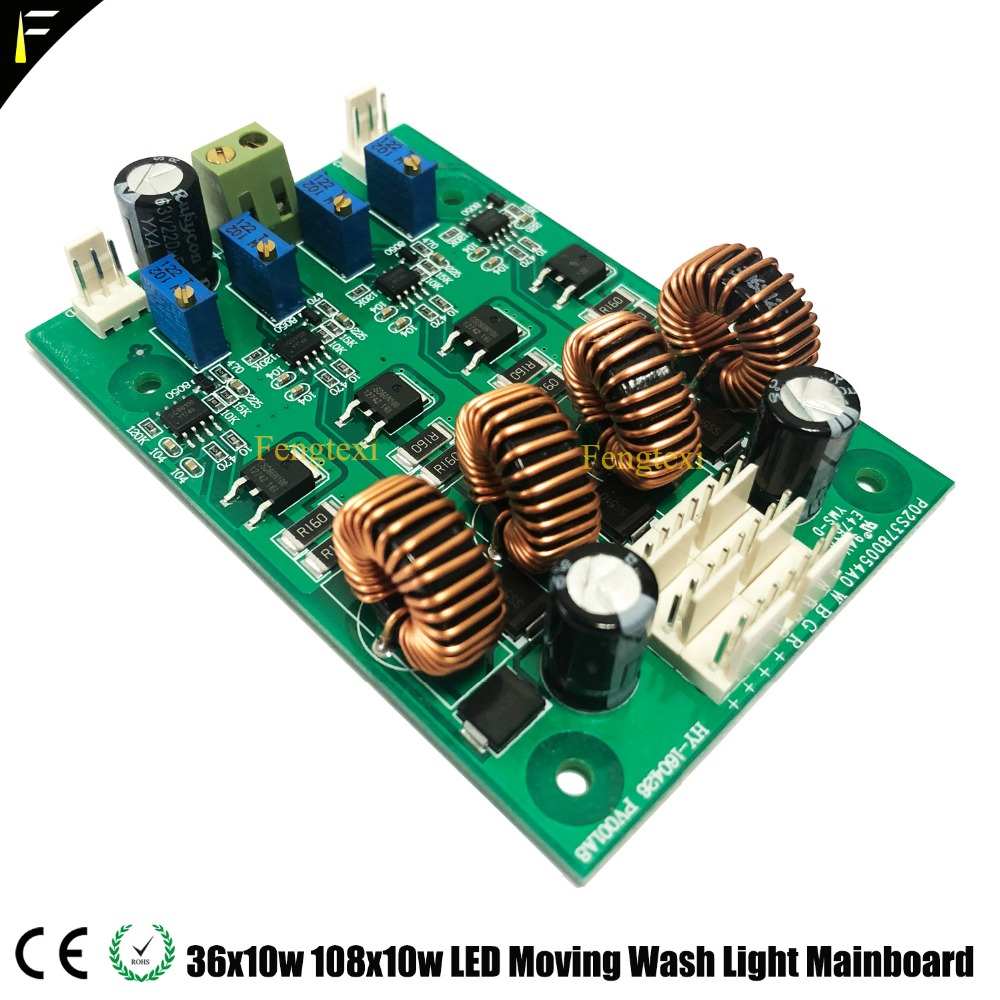 36x10W 36x12W RGBW Zoom LED Moving Head Wash Light Beam Main Board Spare Part Mother Board
