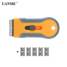 UANME ICE Scraper Spatula Razor 5pcs Blades Car Auto Sticker Glue Remover Window Tint Tools Utility Knife