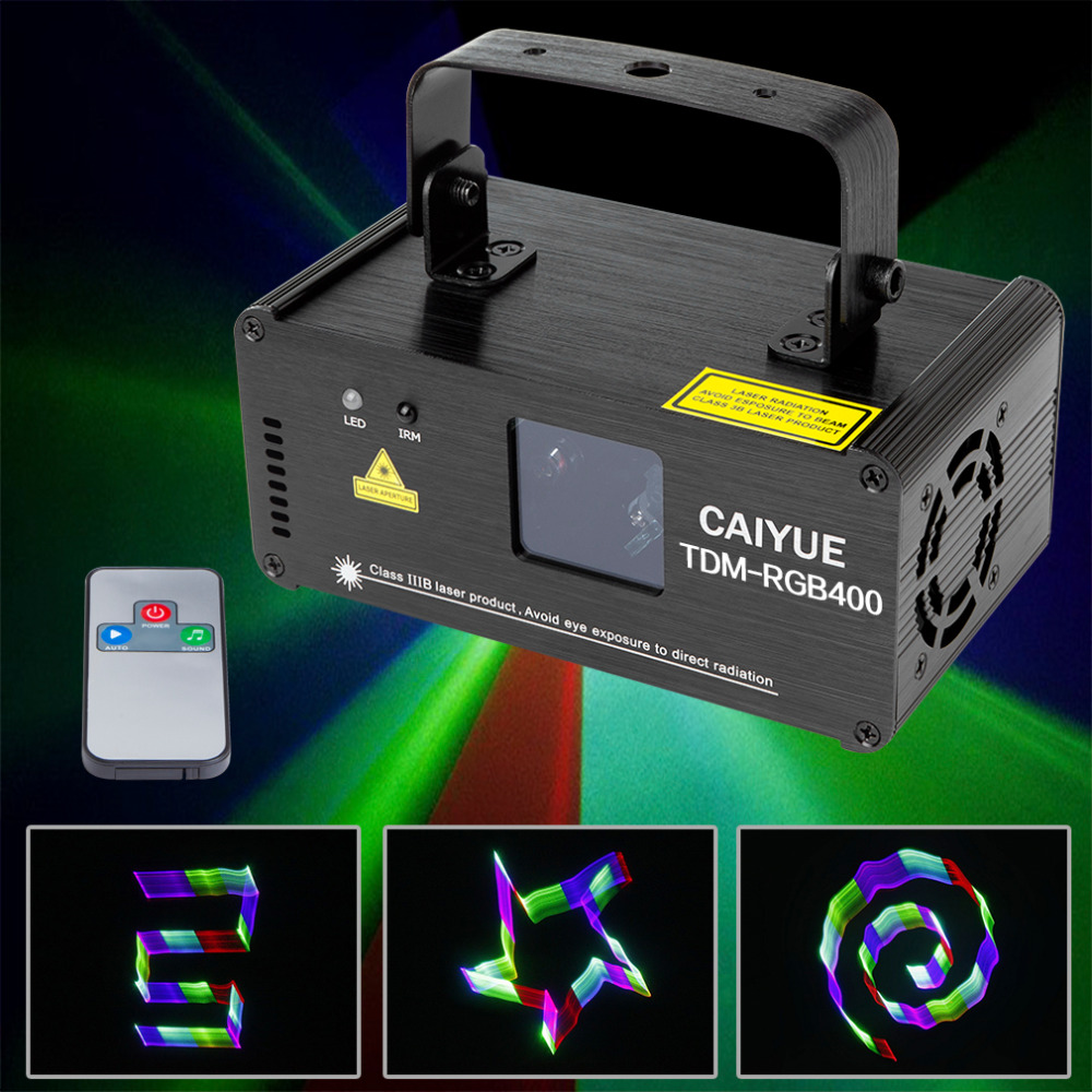 Remote 3D RGB 400mW DMX 512 Laser Scanner Projector Stage Lighting Effect Party Xmas DJ Disco Show Lights Full Color Light mp620 mp622 mp625 projector color wheel mp620 mp622 mp625