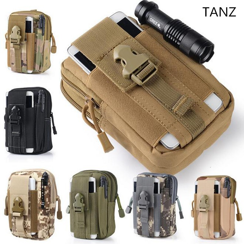 TANZ Universal Outdoor Tactical Holster Military Molle Hip Belt Waist Belt Bag Wallet Pouch Purse Phone Case for iPhone 7 6 Plus