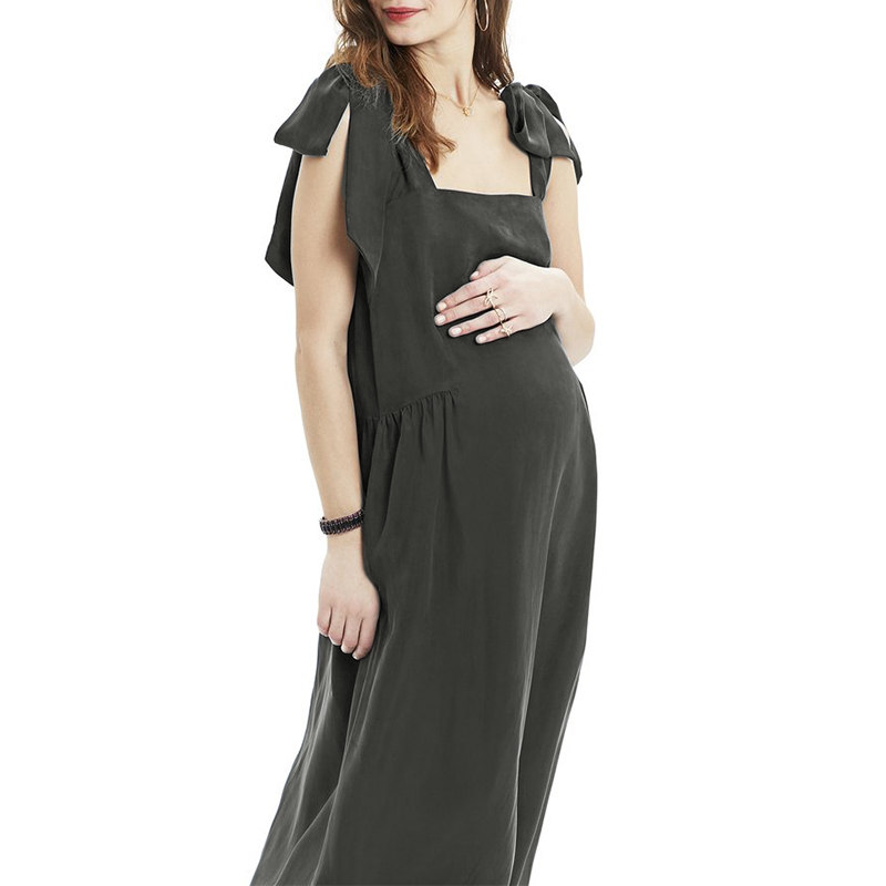 Maternity Clothes 2018 Pregnancy Women Summer Dress Casual Loose Sexy Square Collar Sleeveless Solid Plus Size Vestidos