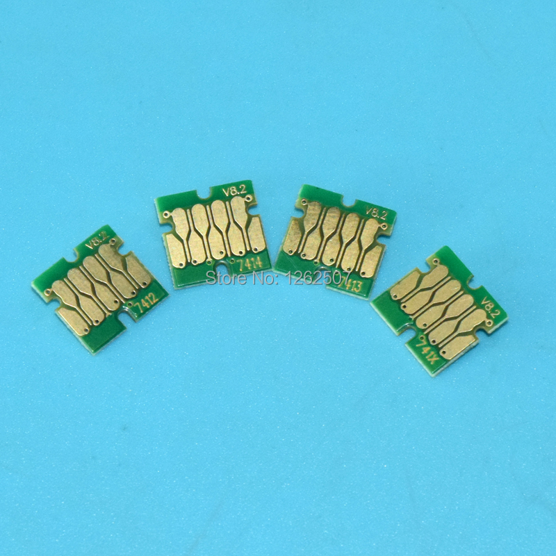T6891 T6892 T6893 T6894 4Pcs Single Use Compatible Cartridge Chip For <font><b>Epson</b></font> SureColor SC <font><b>S30670</b></font> S50670 S30675 S50675 Printers image