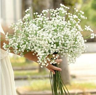 Fleurs artificielles de gypsophile en plastique, 5 pièces, mariage, décorations de maison blanches