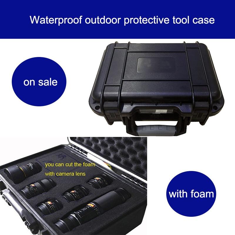 gereedschapskoffer waterdichte gereedschapskoffer harde koffer veiligheid Instrumentmeter koffer 25x21x6CM bewakingscamera camerabox met voorgesneden schuim