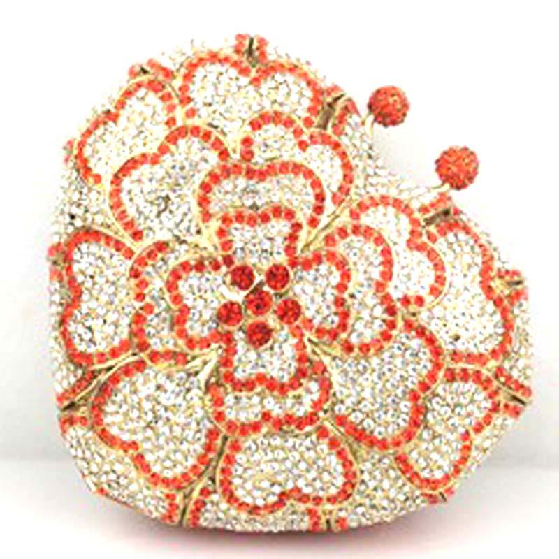 где купить New Small Mini Crystal Bag Women's Evening Bags Day Clutch Party Bag For Girls Women's Shoulder Bag Sac Mujer Bolsas Gift Flower по лучшей цене