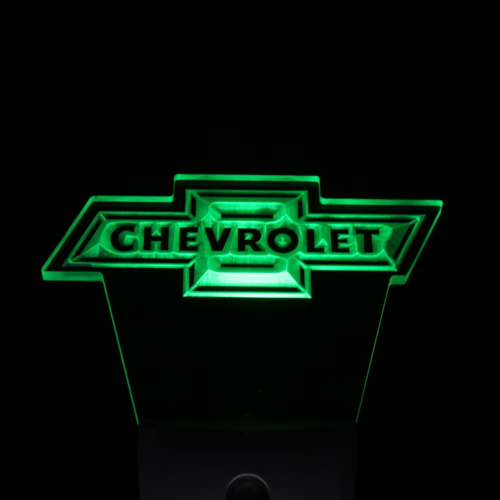 ws0069 CHEVROLET Logo Services Day/ Night Sensor Led Night Light Sign-in Plaques & Signs from ...