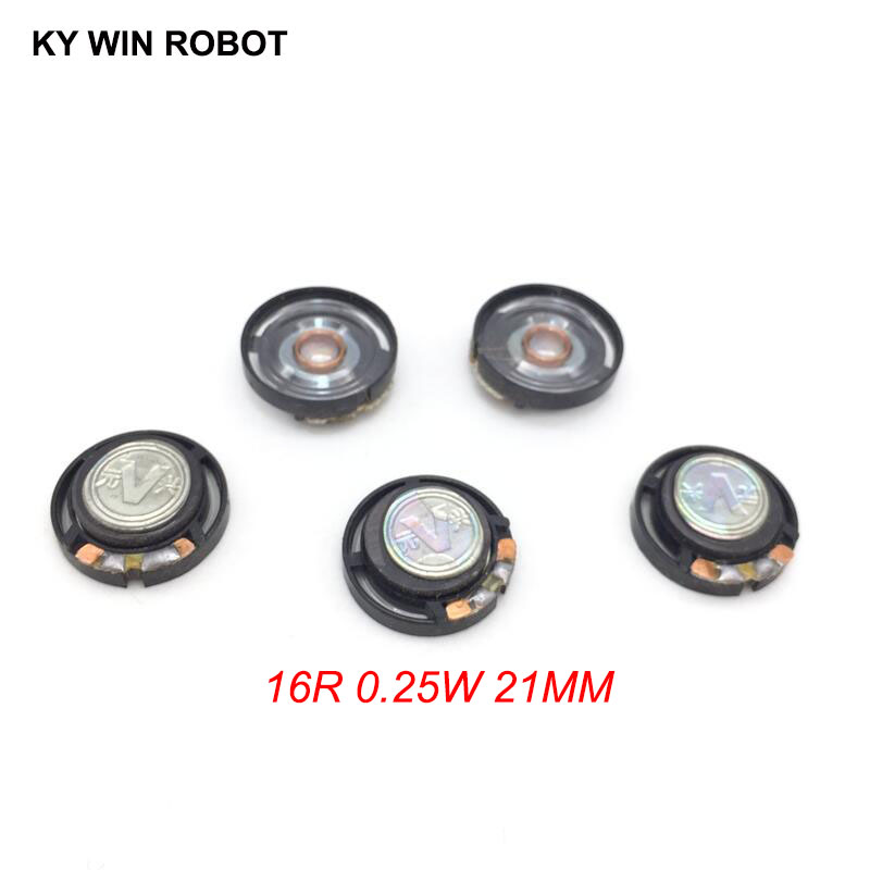 Electronic Components & Supplies Sunny 5pcs/lot New Ultra-thin Speaker Doorbell Horn Toy-car Horn 16 Ohms 0.25 Watt 0.25w 16r Speaker Diameter 21mm 2.1cm Thickness 7mm
