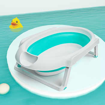 2019 New Baby folding bath kids swim tub child portable plastic bath for newborns Hot Sale Baby Tub - DISCOUNT ITEM  40% OFF All Category