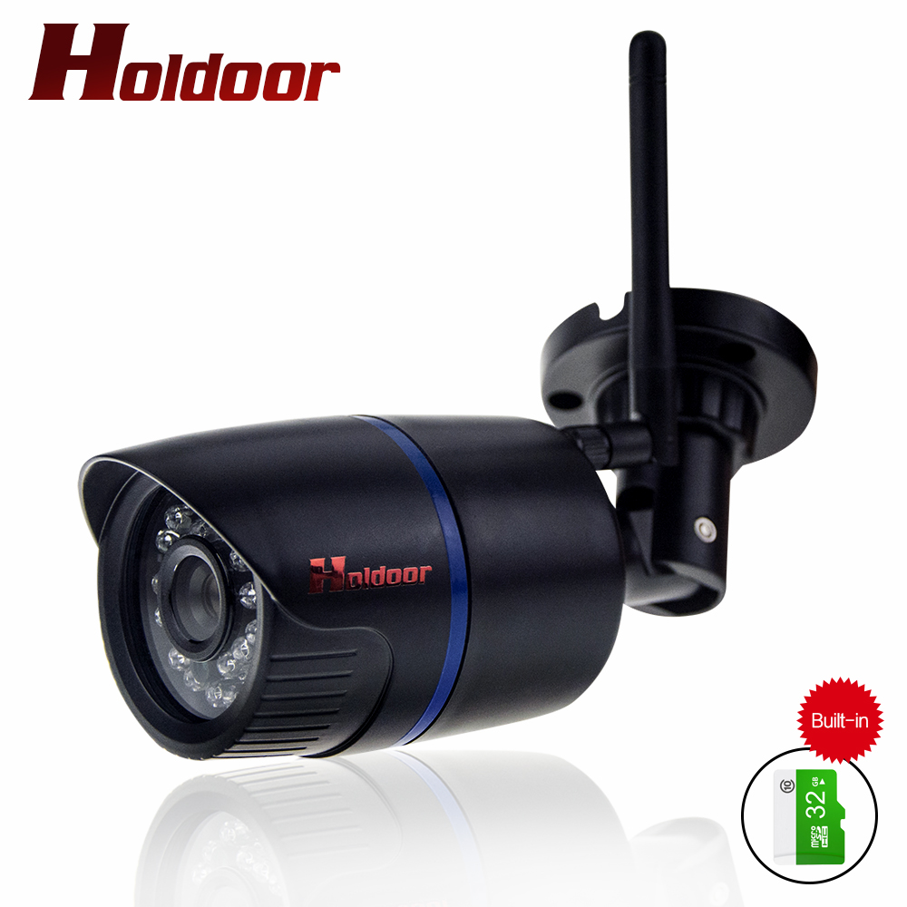 Holdoor Onvif IP Camera WIFI Megapixel 1080P HD Wireless Security CCTV Cam Infrared 32GB SD Card P2P security Bullet Kamera outdoor ip camera wifi megapixel 720p hd security cctv ip cam ir infrared sd card slot p2p v380 bullet kamera