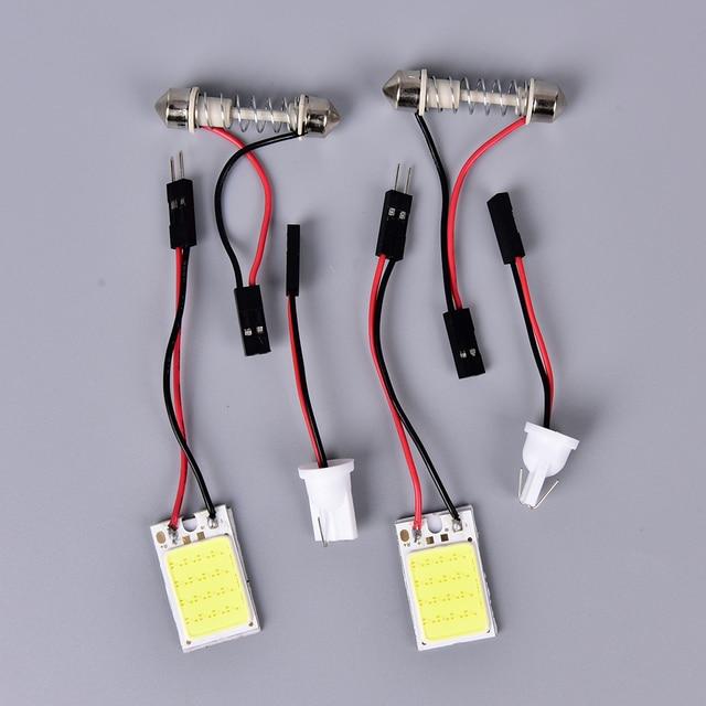 1 Pcs LED COB Chip Car Auto Interior Luz De Leitura Do Painel mapa Lâmpada Lâmpada Festoon Dome Adaptador 12 V DIY Compartimento de Bagagem luzes