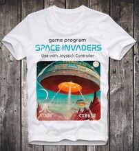 T SHIRT SPACE INVADERS ATARI C64 AMIGA COMMODORE GAME GAMER GAMING VINTAGE RETRO  Short Sleeve T-Shirt 2018 New Arrival Men