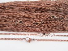 цены Free shipping Wholesale  60cm Antique copper plated  necklace chain with lobster clasp 2mmx3mm 40pcs/lot