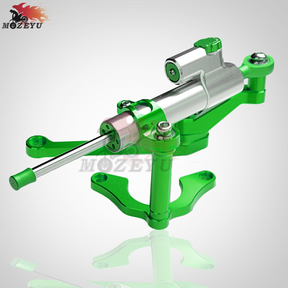 Green CNC Aluminum Motorcycles steer damper Mounting Bracket Kit Steering Stabilizer Damper For Kawasaki Z900 Z 900 2017 2018 in Covers Ornamental Mouldings from Automobiles Motorcycles
