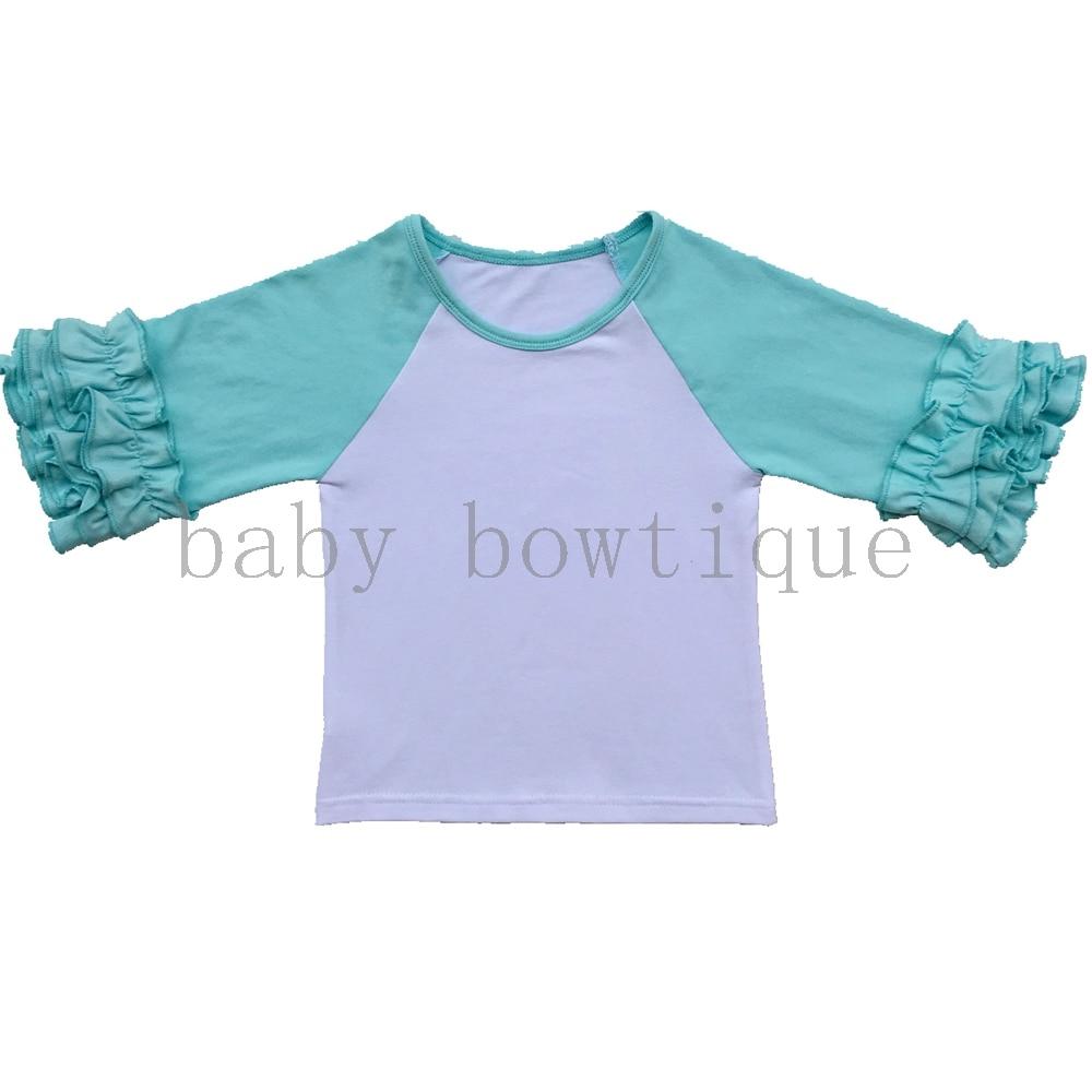 Ruffled Raglan Toddler Three Quarter Shirtglitter Monogram Birthday
