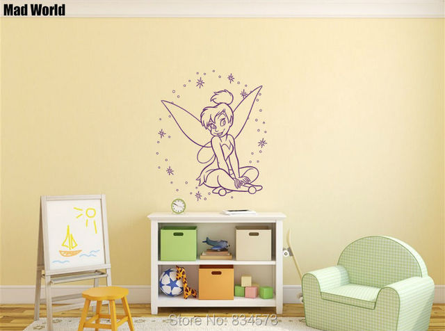 Mad World Princess Fairy Silhouette Kids Wall Art Stickers Wall ...