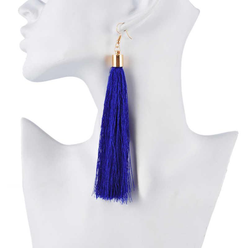 MJARTORIA Simple Earrings Jewelry Ethnic Long Tassel Earrings  2019 Vintage Women Brand Geometric Alloy Plating  Dropshipping