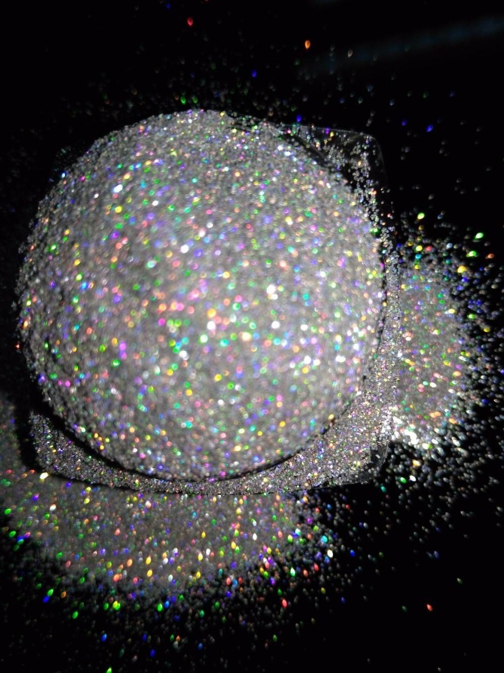 004 Neue Acryl Uv Nail Art Glitter Pulver Staub Tipps Dekoration Laser Sparkly Silber Make-up Glitter Kunst Tipps Decor Bsre-1/256 Schönheit & Gesundheit