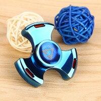 Do Dower Fidget Spinner Stain Steel Tri-bar Hand Spinner Educational Toys for Kids Adult High Quality Spinner Hand Fidget Toys