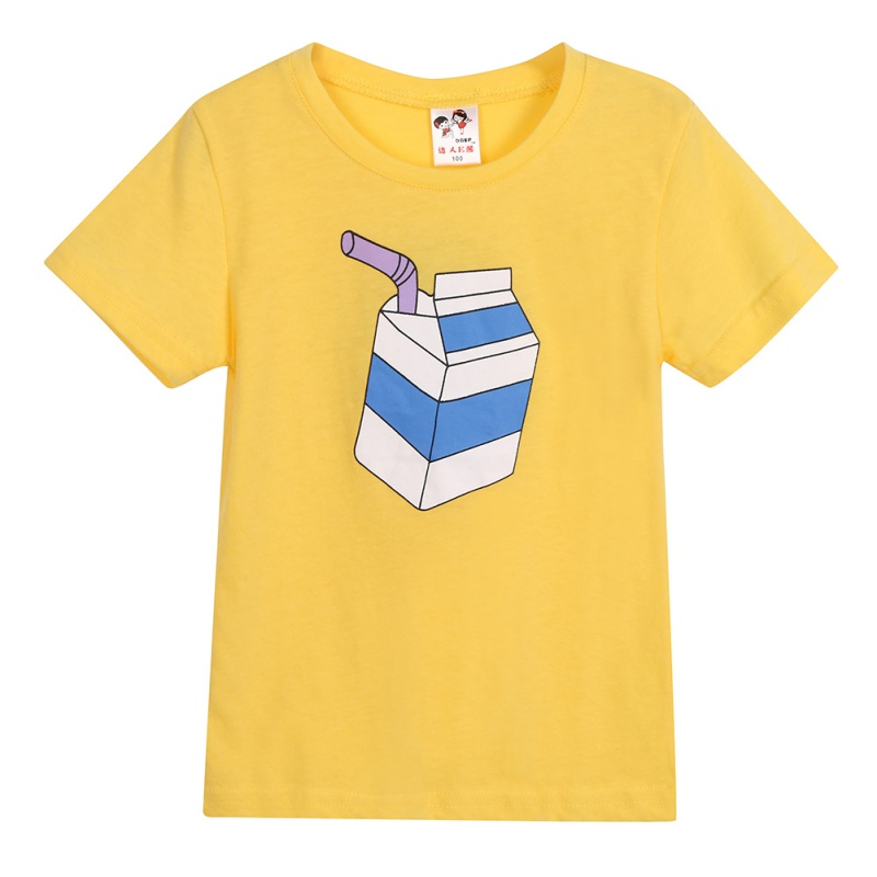 New Arrival Boys Tshirts Summer Children Short Sleeve T Shirts Unisex Casual Cotton O-Neck Print Boy Girls TopsXb