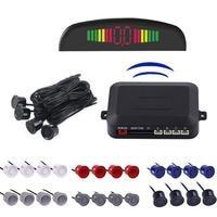 12V Auto Parktronic LED Parkplatz Sensor Mit 4 Sensoren Reverse Backup Parkplatz Radar Monitor Detektor System Hintergrundbeleuchtung Display Parksensoren Kraftfahrzeuge und Motorräder -