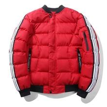 2017 Men Fashion Cotton Red Black Grey Winter Jacket Men Skatebaord Casual Wear Parkas Para Homens Mens Winter Warm Jacket Male