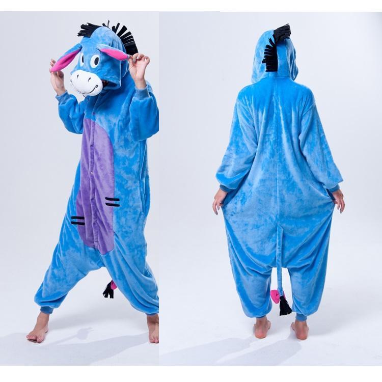 aaac8ff46372 DONKEY One Piece Pajama Onesies For Adult Cute Animal Pajamas Onesies Men  Women Animal Onesies Jumpsuit Pajama
