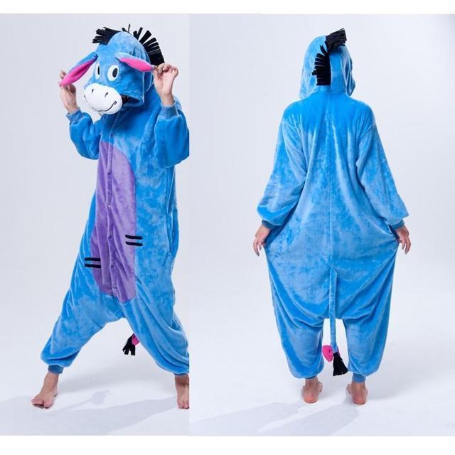 DONKEY One Piece Pajama Onesies For Adult Cute Animal Pajamas Onesies Men Women  Animal Onesies Jumpsuit Pajama 4521b576e