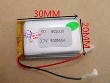 Lítio com Protection Board para Mp4 Mah de Polímero Melhor Marca DA Bateria Tamanho 802030 3.7 V 500 Spg Psp Produtos Digitais Frete Grátis S